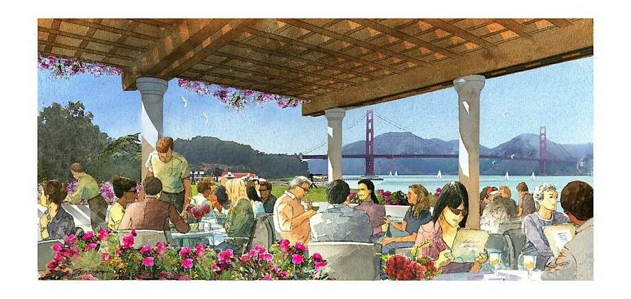 The proposed Lucas museum at Crissy Field would include an outdoor terrace. Photo: Lucas Cultural Arts Museum
