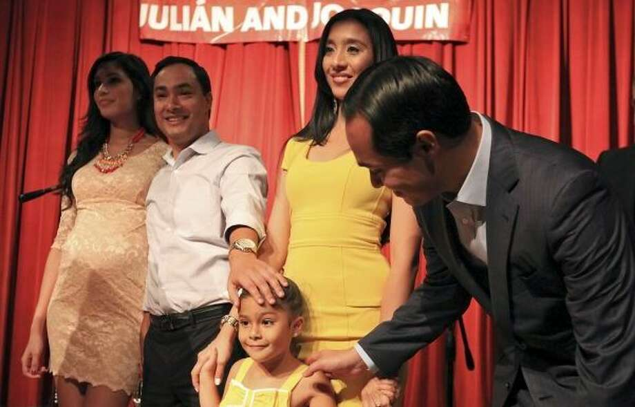At his and twin brother Julián Castro's 39th birthday party at Pearl Stable, U.S. Rep. Joaquín Castro and fiancee Anna Flores formally announced they are expecting their first child, a girl, to be born in December.