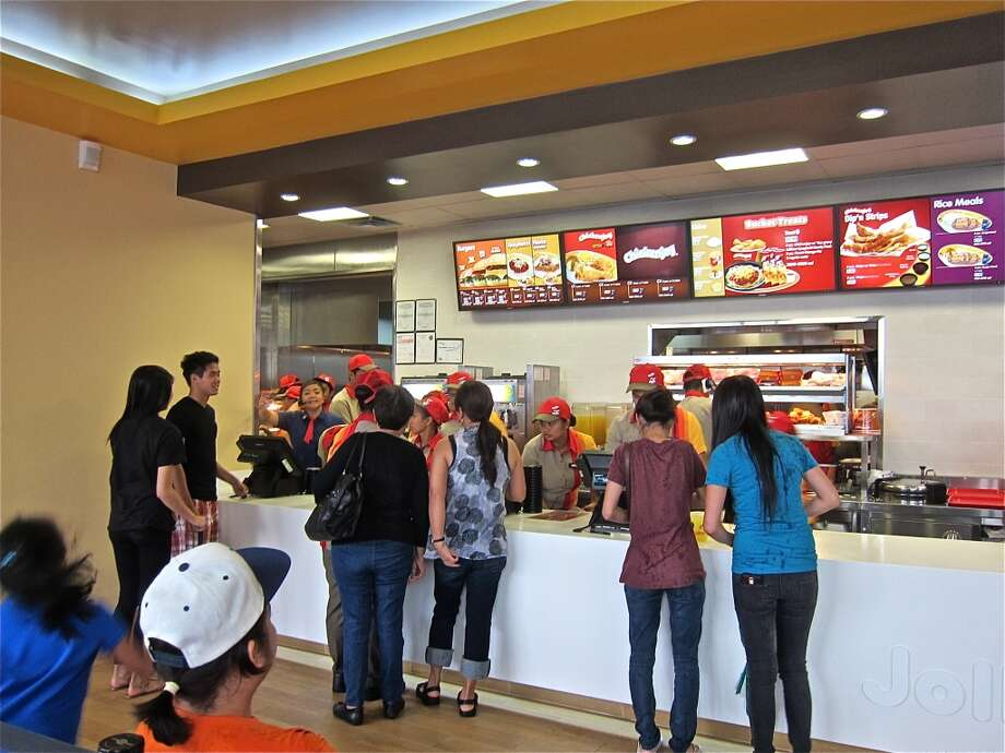 The line to order at Jollibee. Photo: Alison Cook