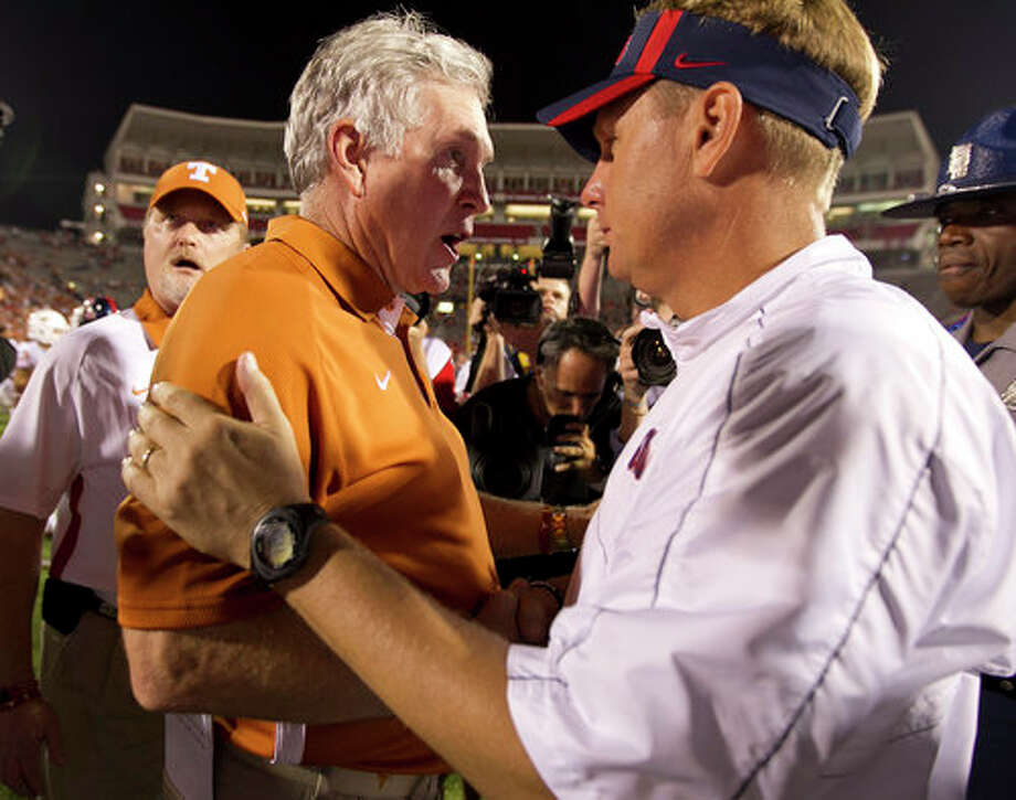 UT's second-half fold with Ole Miss means no relief for Mack Brown. Photo: RODOLFO GONZALEZ, AUSTIN AMERICAN-STATESMAN / AUSTIN AMERICAN-STATESMAN