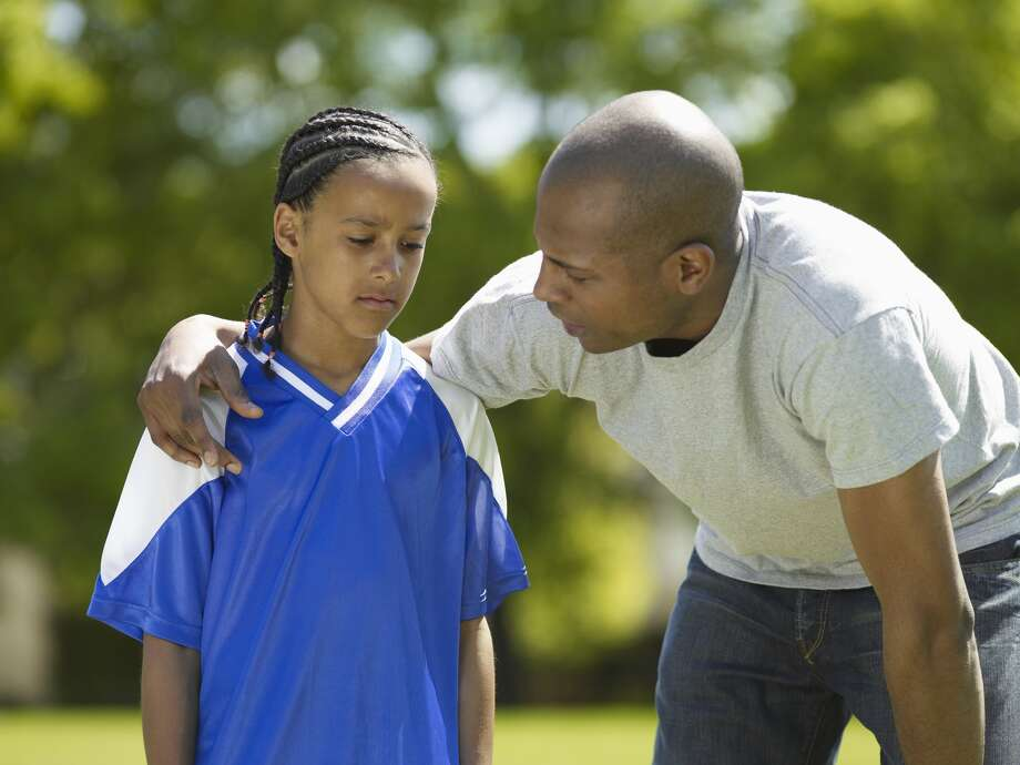 "When a child is hurt and a parent yells, ""Shake it off!"" in response, what the child hears is, ""You're not tough enough - be stronger."" Photo: Getty"
