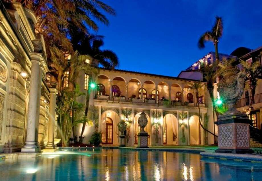This undated photo made available by Casa Casuarina shows the exterior of Casa Casuarina in Miami Beach, Fla. The South Beach mansion once owned by Italian designer Gianni Versace is back on the market for $125 million according to a listing posted on Friday. (AP Photo/Casa Casuarina) (AP)