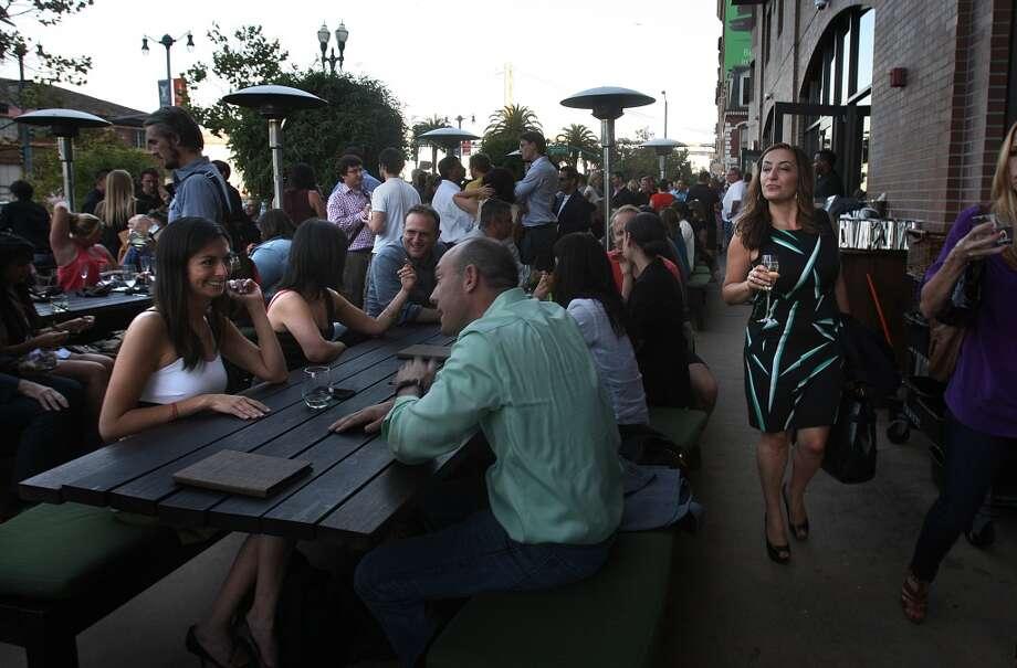 The patio at Americano. Photo: Liz Hafalia, The Chronicle