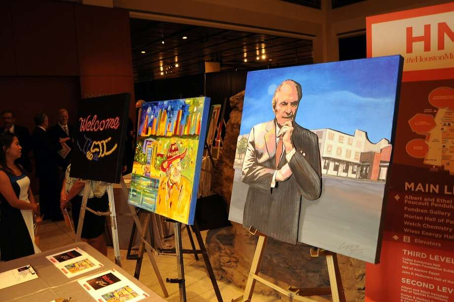 Artworks up for auction Photo: Dave Rossman, For The Houston Chronicle