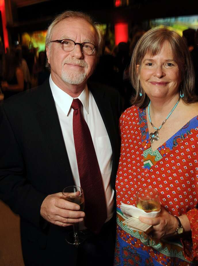 Mike Patterson and Joan Steinman Photo: Dave Rossman, For The Houston Chronicle