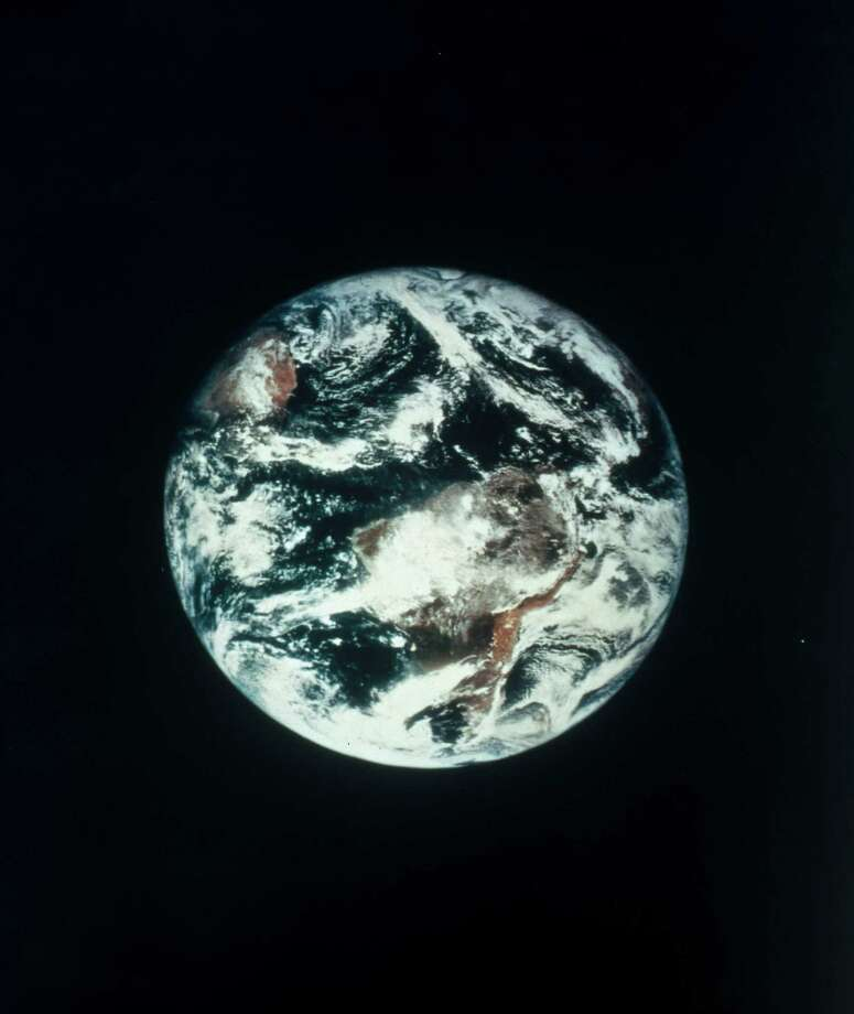 This picture was taken from the Applications Test Satellite 3 (ATS3), launched on 5th November 1967 into a geostationary orbit over the Atlantic Ocean. These were the first ever colour photographs of the Earth from space. The ATS satellites were designed to conduct meteorological experiments, develop experimental geostationary orbit techniques, and transmit meteorological information to ground stations.  (Photo by SSPL/Getty Images) Photo: Science & Society Picture Librar, Multiple / Please read our licence terms. All digital images must be destroyed unless otherwise agreed in writing.