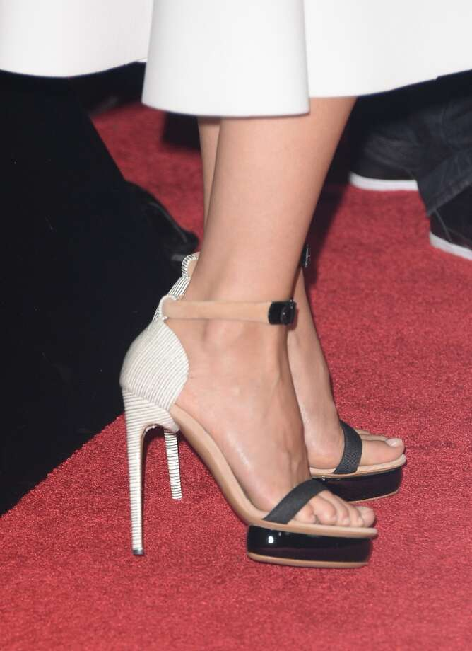 Actress Gwyneth Paltrow attends the premiere of Roadside Attractions' 'Thanks For Sharing' at ArcLight Cinemas on September 16, 2013 in Hollywood, California.  Here are her shoes. (Photo by Jason Merritt/Getty Images) Photo: Jason Merritt, Getty Images