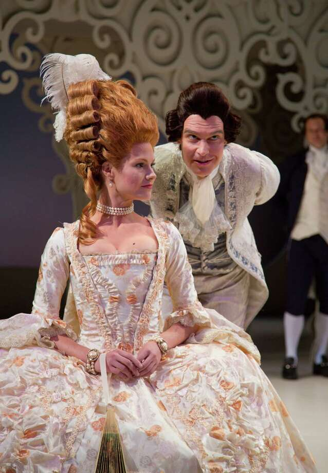"Kate MacCluggage and Grant Goodman are featured in ""La Dispute"" running through Nov. 10 at Hartford Stage. Photo: Contributed Photo"