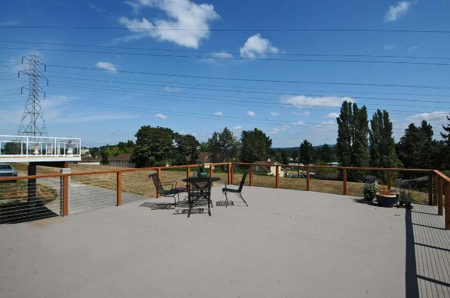 Deck of 7954 39th Ave. S. It's listed for $399,000. Photo: Courtesy Anne Marie Peterson, Windermere Real Estate