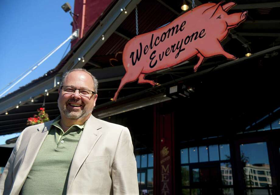 Pastor Rick Allen poses for a photo on Tuesday, Sept. 17, 2013, at Dinosaur BBQ in Stamford, Conn., where he will begin to hold services Sunday, Sept. 22, 2013, at part of Black Rock Congregational Church. Photo: Lindsay Perry / Stamford Advocate