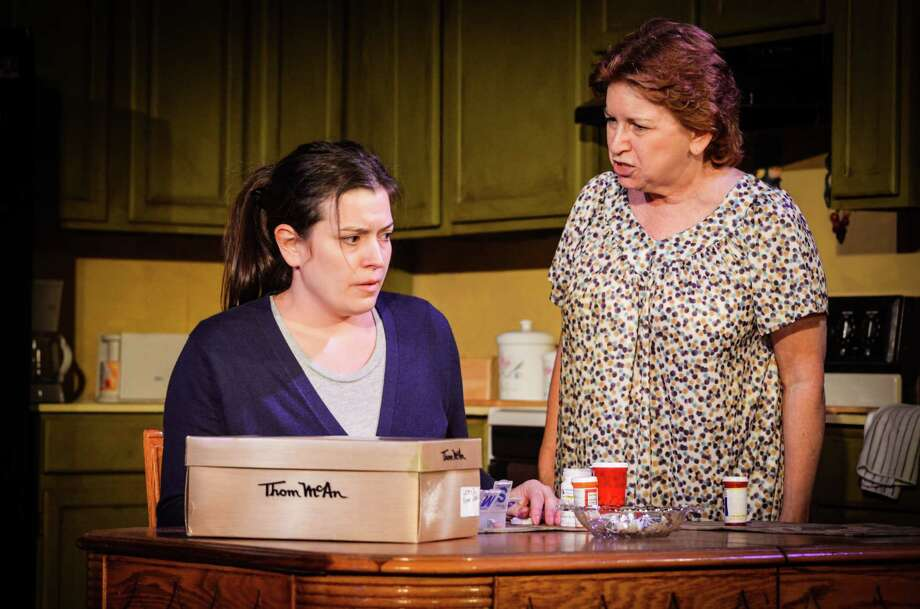 "Meredith Bell Alvarez (left) captures her character's pain, while Sherrie Shirky packs an emotional punch as her mom in ""'night, Mother."" Photo: Courtesy Andrea Madeleine Medina"