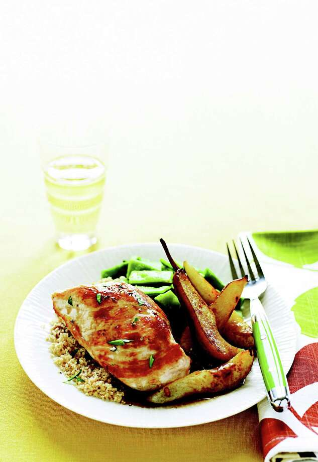 Good Housekeeping recipe for Balsamic Chicken and Pears. Photo: James Baigrie