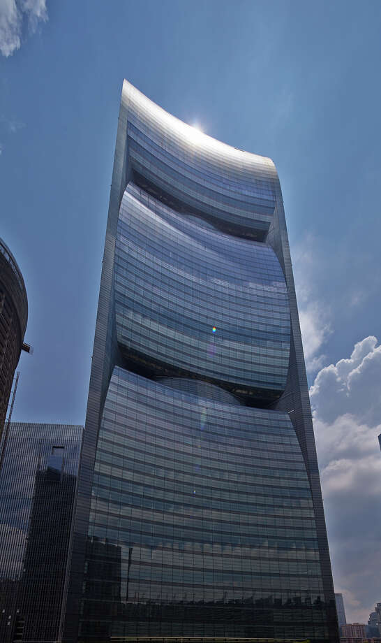 At 1,017 feet, Pearl River Tower is the tallest building in the Emporis Skyscraper Award 2012 ranking. Photo: Si-ye Zhang
