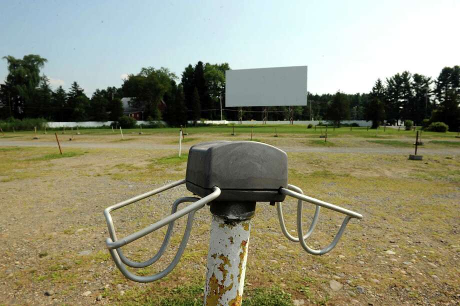 An old speaker stand at the Jericho Drive-In on Wednesday Aug. 21, 2013 in Glenmont, N.Y. The Jericho is in need of money to switch from actual film to digital in order to stay open  (Michael P. Farrell/Times Union) Photo: Michael P. Farrell / 00023589A