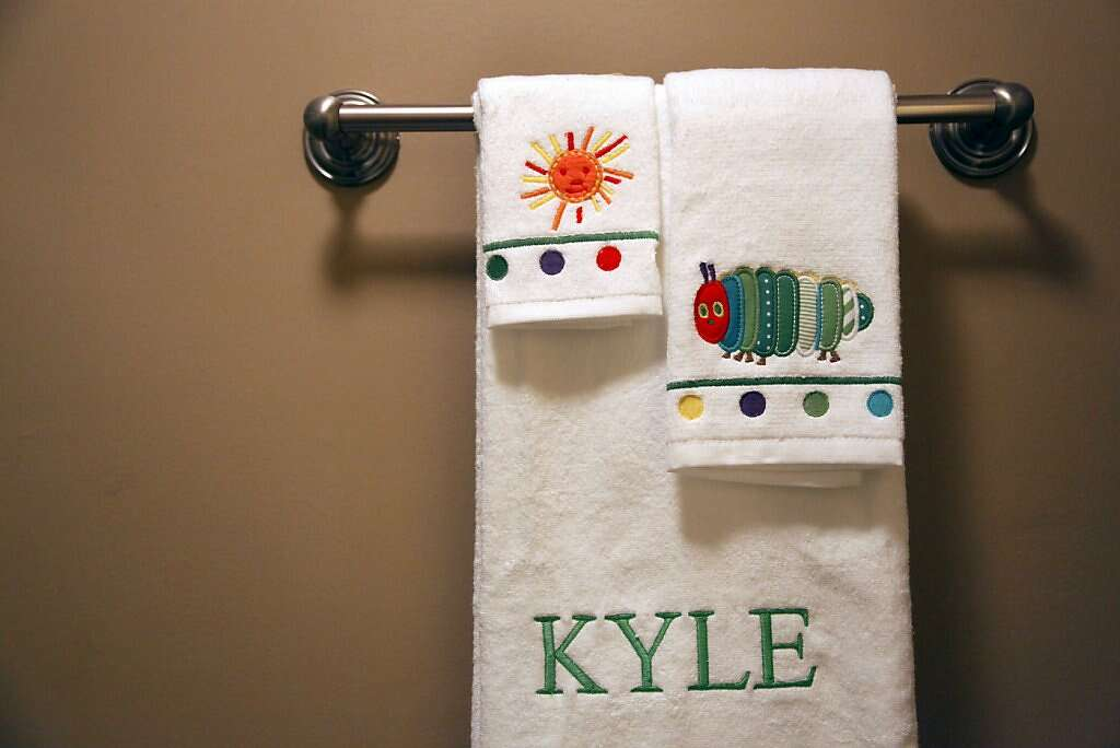 Baby Kyle Benito-Kowalski has monogrammed towels in the Kowalski home in San Carlos, Calif., Wednesday, August 7, 2013. Photo: Nicole Fruge, The Chronicle