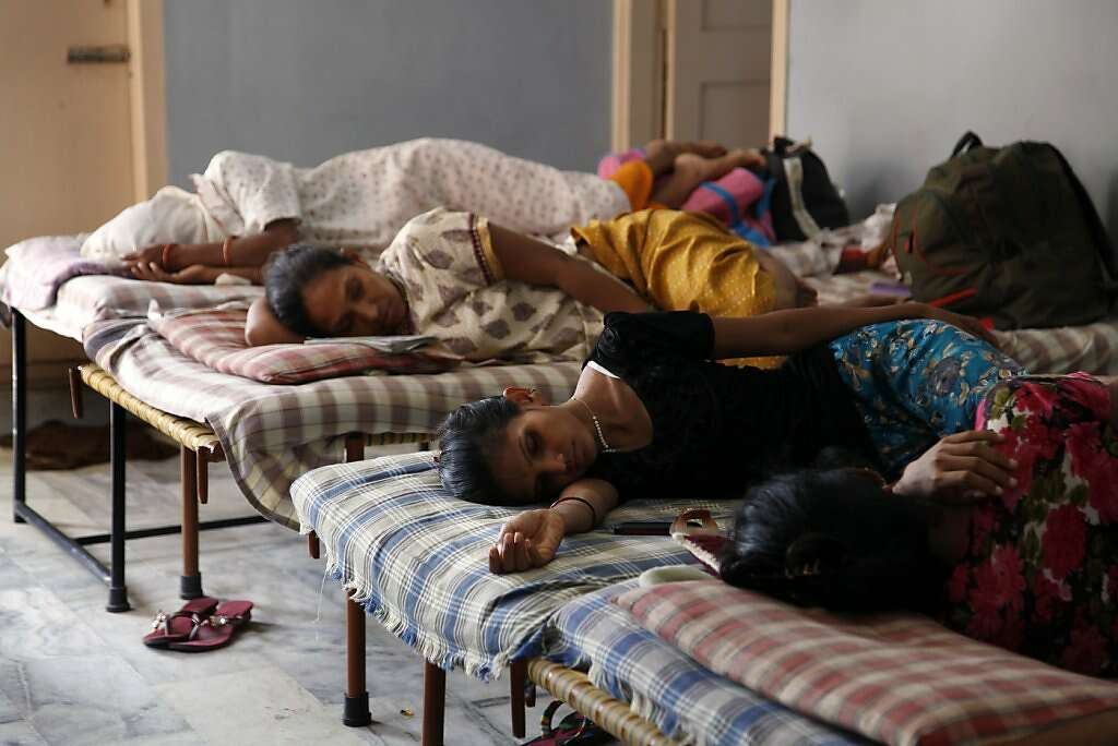 Surrogates sleep Akanksha Infertility Clinic's dormitories on the outskirts of Anand, Saturday, June 1, 2013. Surrogates remain in the dormitories and the clinic for almost all of their pregnancies -- a requirement, Dr. Patel says, that ensures their surroundings are secure and sanitary. Photo: Nicole Fruge, The Chronicle