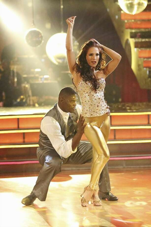 White will dance with Sharna Burgess, shown here with Keyshawn Johnson.  Photo: Adam Taylor, ABC / © 2013 American Broadcasting Companies, Inc. All rights reserved.