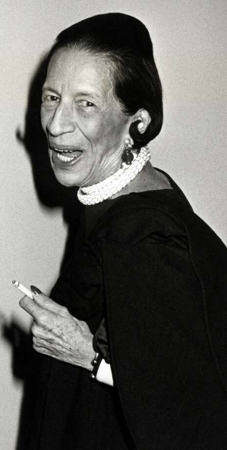 Diana Vreeland wearing Snake Necklace in 1982. Photo: Ron Galella, Courtesy Of The De Young And Bulgari
