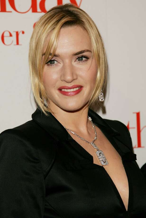 "Kate Winslet wearing an Icon Parentesi necklace and matching white gold earrings at the premiere of ""The Holiday"" at the Ziegfeld Theatre in New York, 2006. Photo: Evan Agostini, Courtesy Of The De Young And Bulgari"