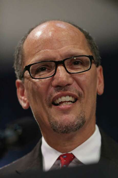 WASHINGTON, DC - SEPTEMBER 04:  Labor Secretary Thomas Perez delivers remarks after his ceremonial swearing-in at the Department of Labor September 4, 2013 in Washington, DC. Perez was officially sworn in July 23, 2013. Perez served as the Assistant Attorney General for the Civil Rights Division of the Department of Justice before being tapped by President Barack Obama to head the Labor Department during his second term.  (Photo by Chip Somodevilla/Getty Images) Photo: Chip Somodevilla, Staff / 2013 Getty Images