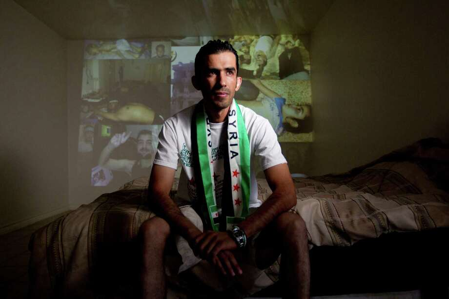 Mohamad Alakish owned two factories in Syria. Now a refugee in Houston, he grieves for his country and those he left behind. Photo: Johnny Hanson, Staff / Houston Chronicle