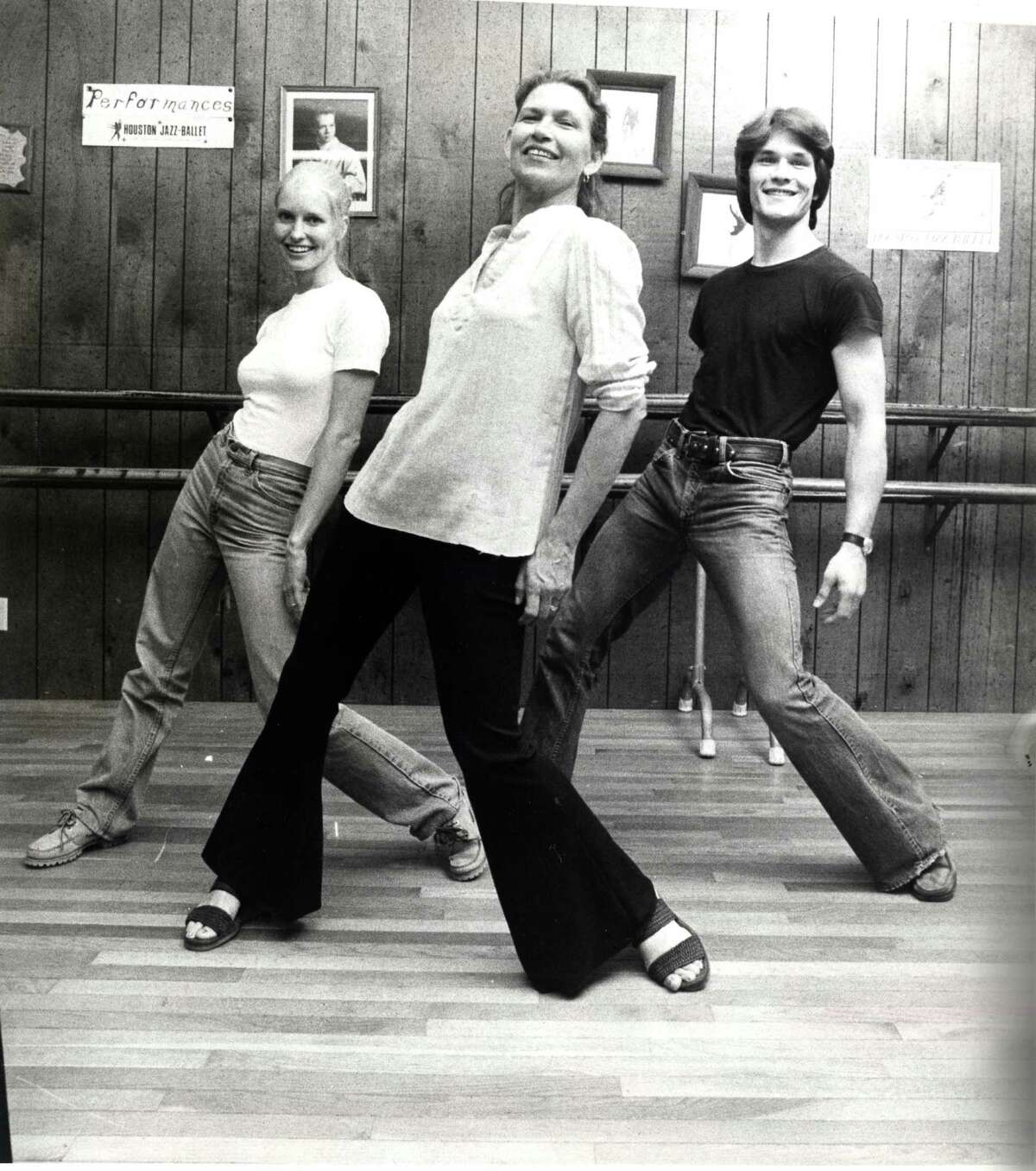 Patsy Swayze, center, taught her son Patrick Swayze and his wife Lisa Haapaniemi (aka Niemi) to dance at her studio in Houston. The three are shown in a 1978 photo.