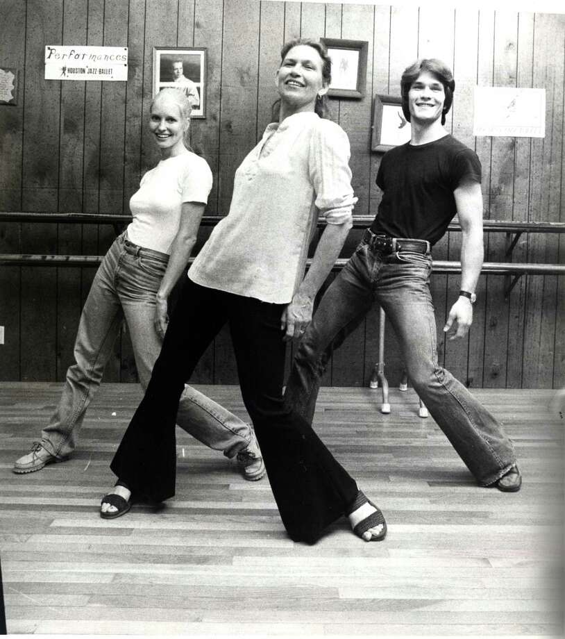 Patsy Swayze, center, taught her son Patrick Swayze and his wife Lisa Haapaniemi (aka Niemi) to dance at her studio in Houston. The three are shown in a 1978 photo. Photo: Tom Colburn, HC Staff / Houston Chronicle
