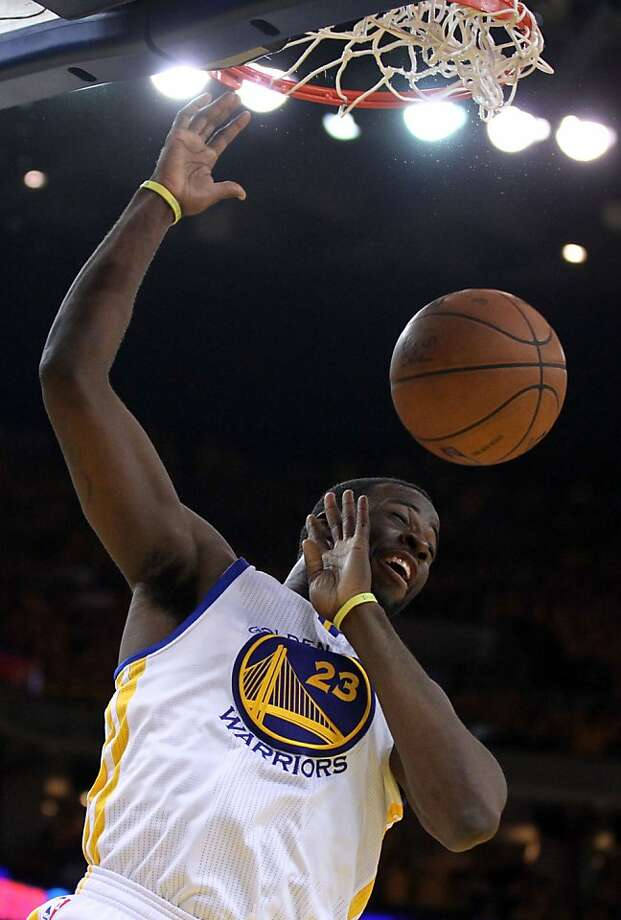 Golden State Warriors' Draymond Green scores in the second half ofGame 3 of the Western Conference semifinal NBA basketball playoff series against the San Antonio Spurs, Friday, May 10, 2013 in Oakland, Calif. Photo: Lance Iversen, The Chronicle