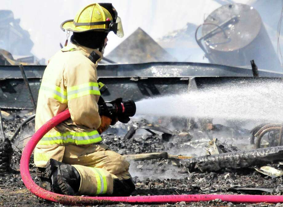 A fire destroyed a home in Kountze Tuesday afternoon. Photo: Cassie Smith