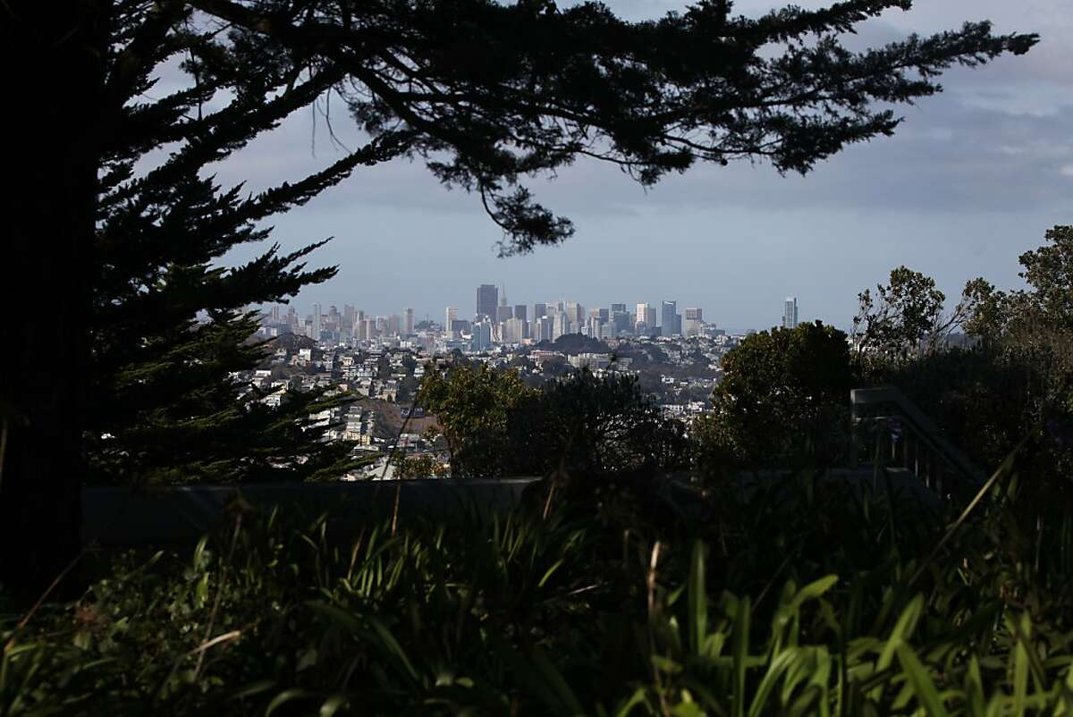 Downtown San Francisco is seen on September 11, 2013 from John McLaren Park in the southeastern part of the city.