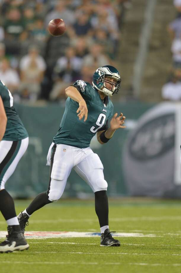 Nick Foles No. 88 overall pick Philadelphia Eagles  After Wilson slipped through the Eagles' fingers, they snapped up former Arizona Wildcat Foles with their third-round pick. Projected to be a developmental project, Foles was forced into action last season after an injury to starter Michael Vick. He played fairly well, completing 60 percent of his passes for 1,699 yards, six touchdowns and five interceptions, but couldn't beat out Vick for the starting job in new head coach Chip Kelly's offense this season. He's currently the backup in Philly behind Vick and ahead of ex-USC Trojan Matt Barkley, the team's fourth-round pick this year. Photo: Drew Hallowell, Getty Images