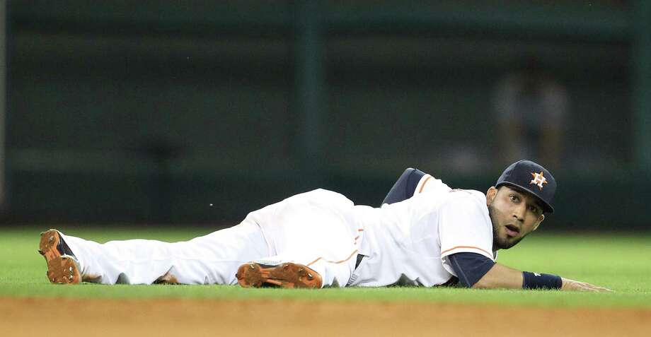 The outlook for shortstop Jonathan Villar and the Astros in 2014 is uncertain, but there are some signs that brighter days are on the horizon. Photo: Karen Warren, Staff / © 2013 Houston Chronicle