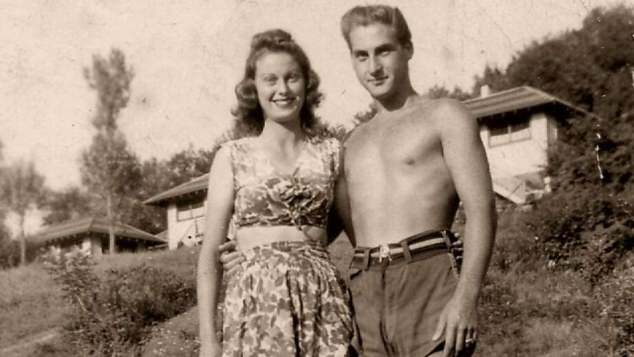"""Comedian Sid Caesar, with his fiancee, Florence, in the Catskills in the '50s, as seen in the documentary """"When Comedy Went to School."""" Photo: International Film Circuit"""