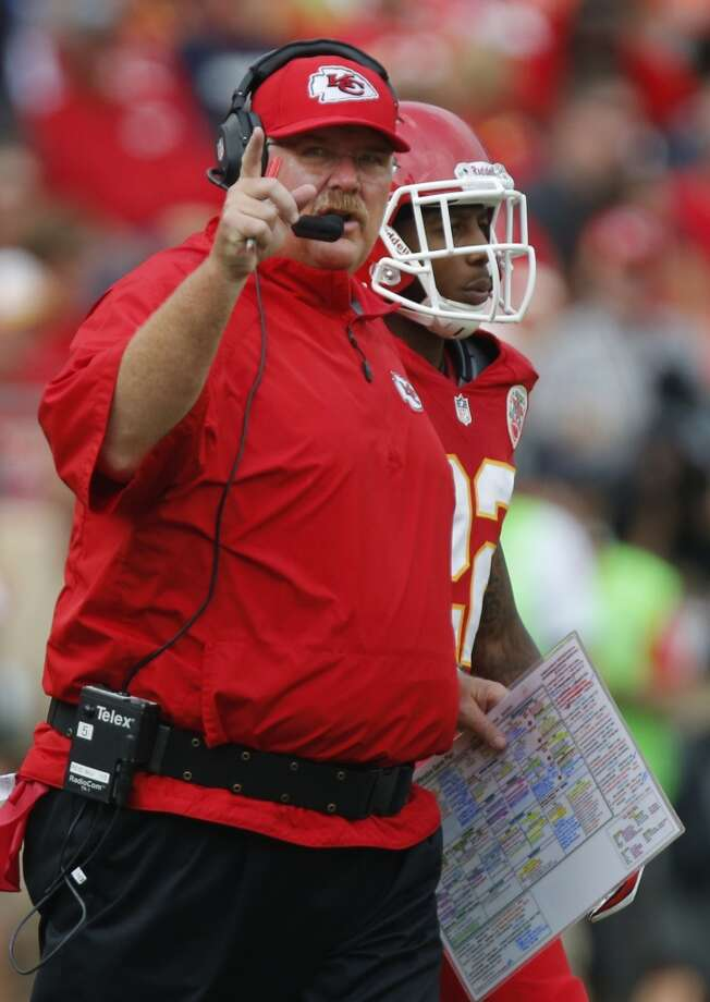 11. Chiefs (2-0) Last week: 18Under coach Andy Reid, the Chiefs are the fifth team in league history to start 2-0 after losing at least 14 games the previous season. Photo: Ed Zurga, Associated Press