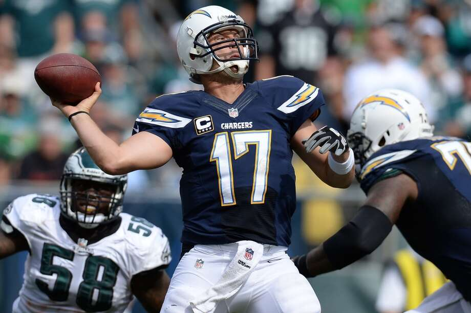 14. Chargers (1-1) Last week: 27Quarterback Philip Rivers is off to a terrific start under new coach Mike McCoy. The Chargers are averaging 30.5 points a game. Photo: Patrick Smith, Getty Images