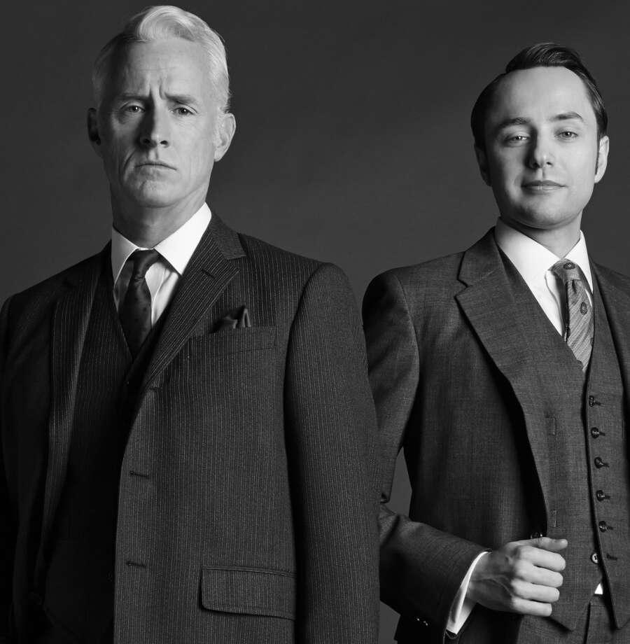 Roger Sterling (John Slattery) and Pete Campbell (Vincent Kartheiser) - Mad Men_Season 6, Gallery - Photo Credit: Frank Ockenfels/AMC Photo: Frank Ockenfels/AMC