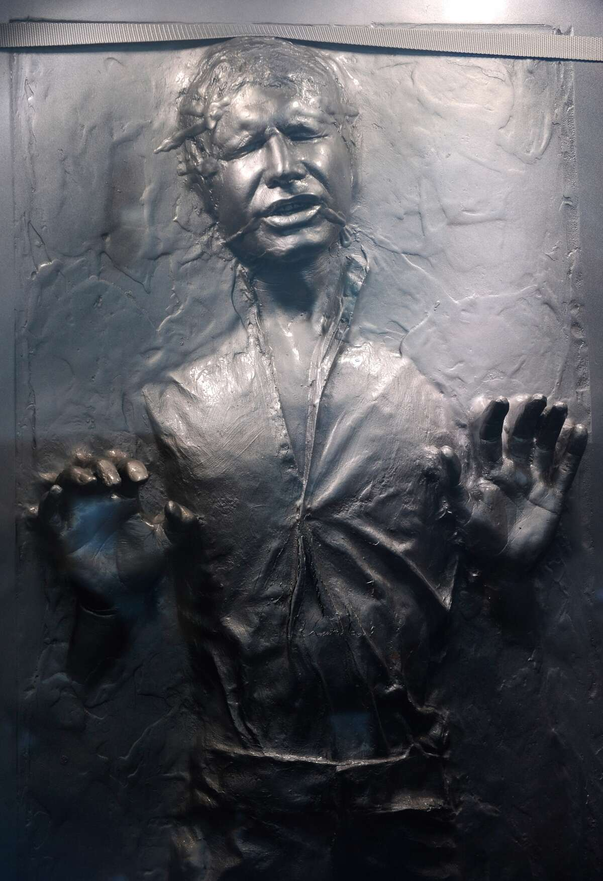 What Han Solo looked like after he was frozen in carbonite in Star Wars: Episode V.