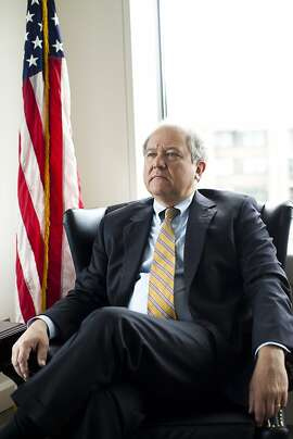 FILE -- John Sopko, the U.S. special inspector general for Afghan reconstruction, at his office in Washington, July 22, 2013. Officials from the State Department and the U.S. Agency for International Development have begun publicly airing their grievances about Sopko, the government watchdog charged with auditing their work in Afghanistan. (Christopher Gregory/The New York Times)