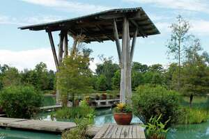 The Cypress Gate at the Pond of the Blue Moon is an inviting oasis at the Shangri La Botanical Gardens and Nature Center in Orange.