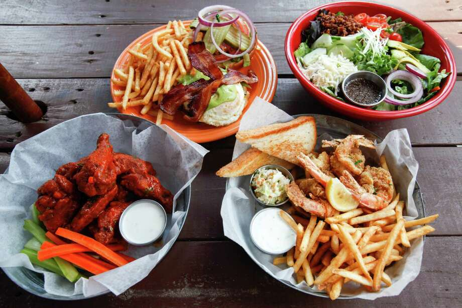 Some of the tasty offerings at Cedar Creek Cafe, Sept. 14, 2013 in Houston.  (Eric Kayne/For the Chronicle) Photo: Eric Kayne / ©Eric Kayne 2013
