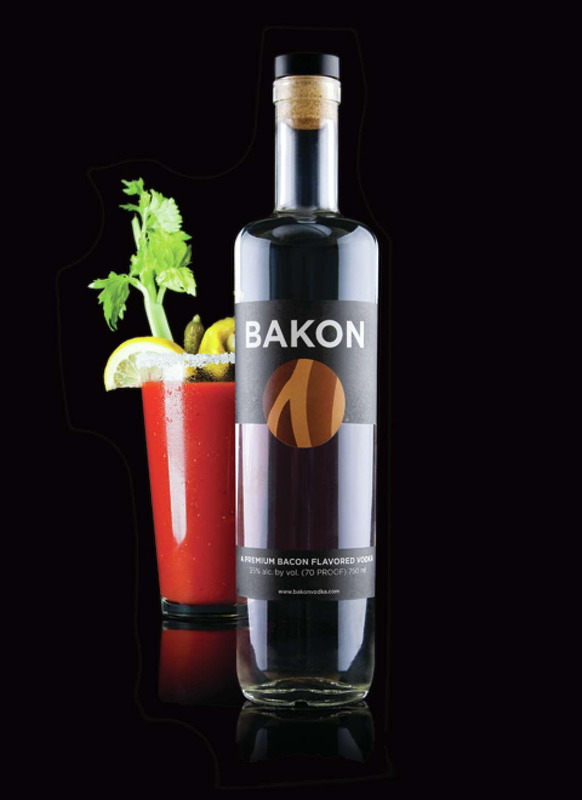 Bacon-flavored vodka (Bakon Vodka)