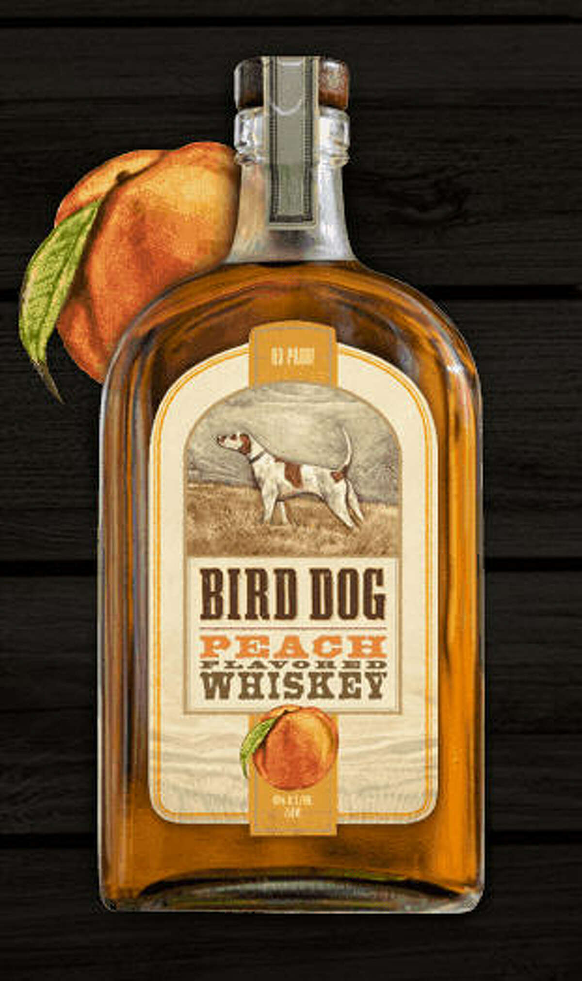 Peach-flavored whiskey (Bird Dog Whiskey)