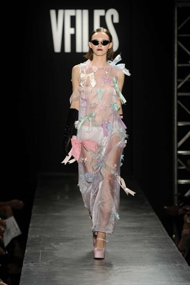 We honestly can't tell if this is a pajama set, an evening gown or a cat toy. Photo: Arun Nevader, Getty Images