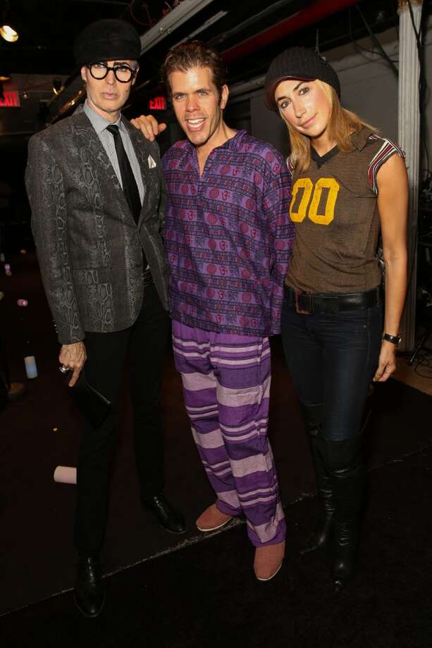 We get it, Perez Hilton. All new parents wear their jammies to Fashion Week. Photo: Chelsea Lauren, Getty Images