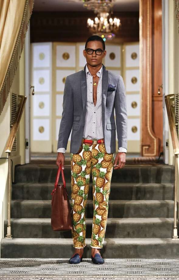 High-water pineapple pants. Because you don't want to step on the pineapples. Photo: Brian Ach, Getty Images