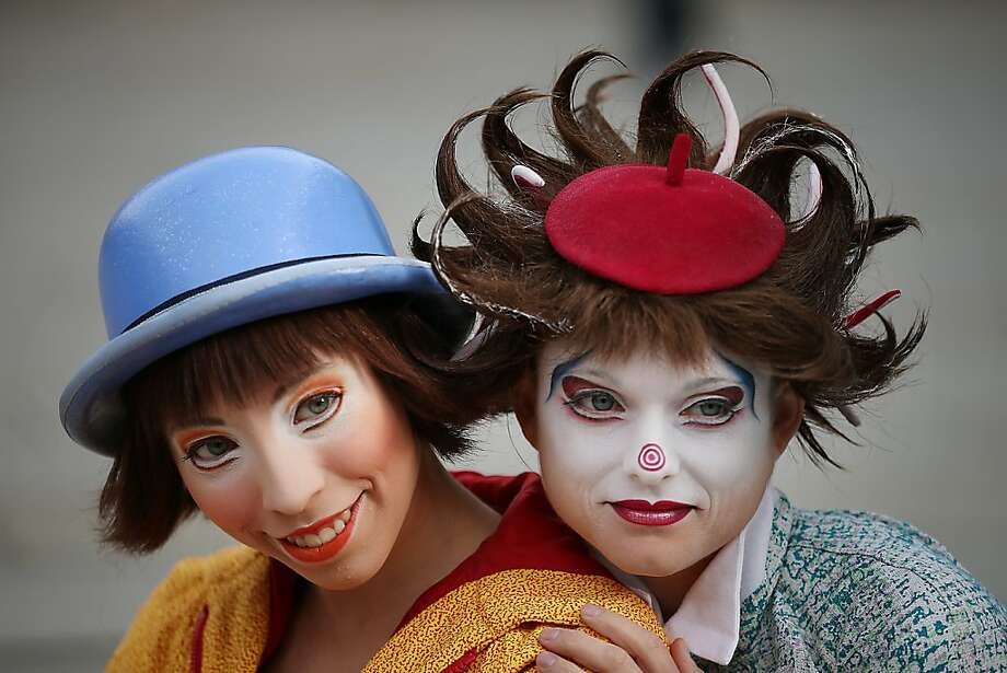 "Imaginary friends: Cirque de Soleil members of the cast of ""Quidam,"" a story of a bored child and her make-believe world, perform 