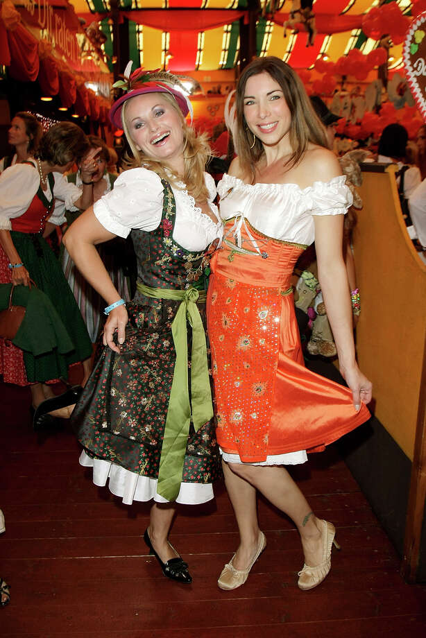 Eva Gruenbauer and Alexandra Polzin attend 'Regines Damenwiesn' at Hippodrom at the Theresienwiese on Sept. 28, 2009 in Munich, Germany. Photo: Florian Seefried, Getty Images / 2009 Florian Seefried