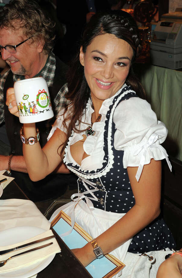 Verona Pooth attends the Oktoberfest beer festival at Kaefer Schaenke beer tent on Sept. 17, 2011 in Munich, Germany. Photo: Hannes Magerstaedt, Getty Images / 2011 Getty Images
