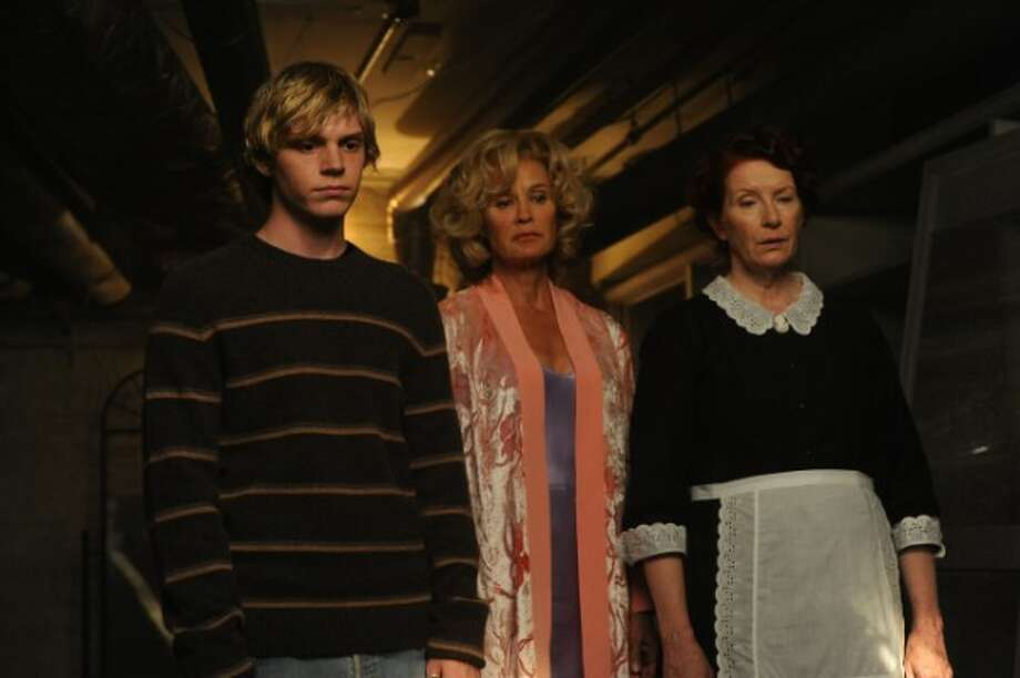 (From L to R): Evan Peters, Jessica Lange and Frances Conroy in Season 1 of American Horror Story.  Photo: FX