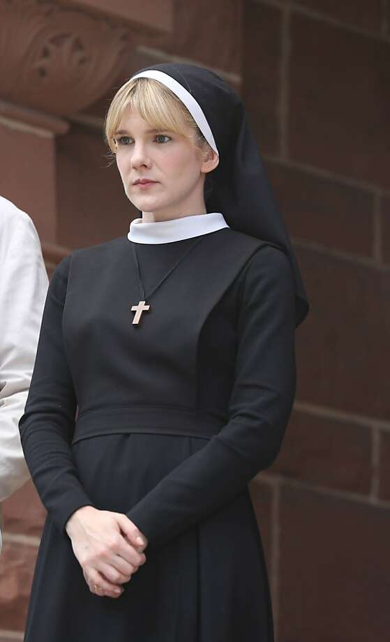 Back to American Horror Story: Asylum (Season 2), here's Lily Rabe, channeling evil as Sister Eunice.  Photo: FX